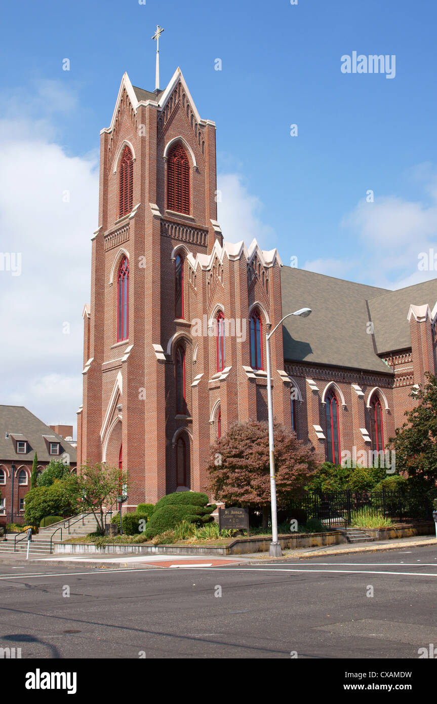 saint st james catholic church vancouver washington wa catholicism christian churches theology doctrine Stock Photo