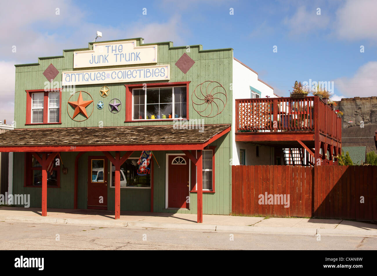 junk trunk kremmling colorado co buy buying shop shopping business commercial commerce deal dealing sell - Stock Image