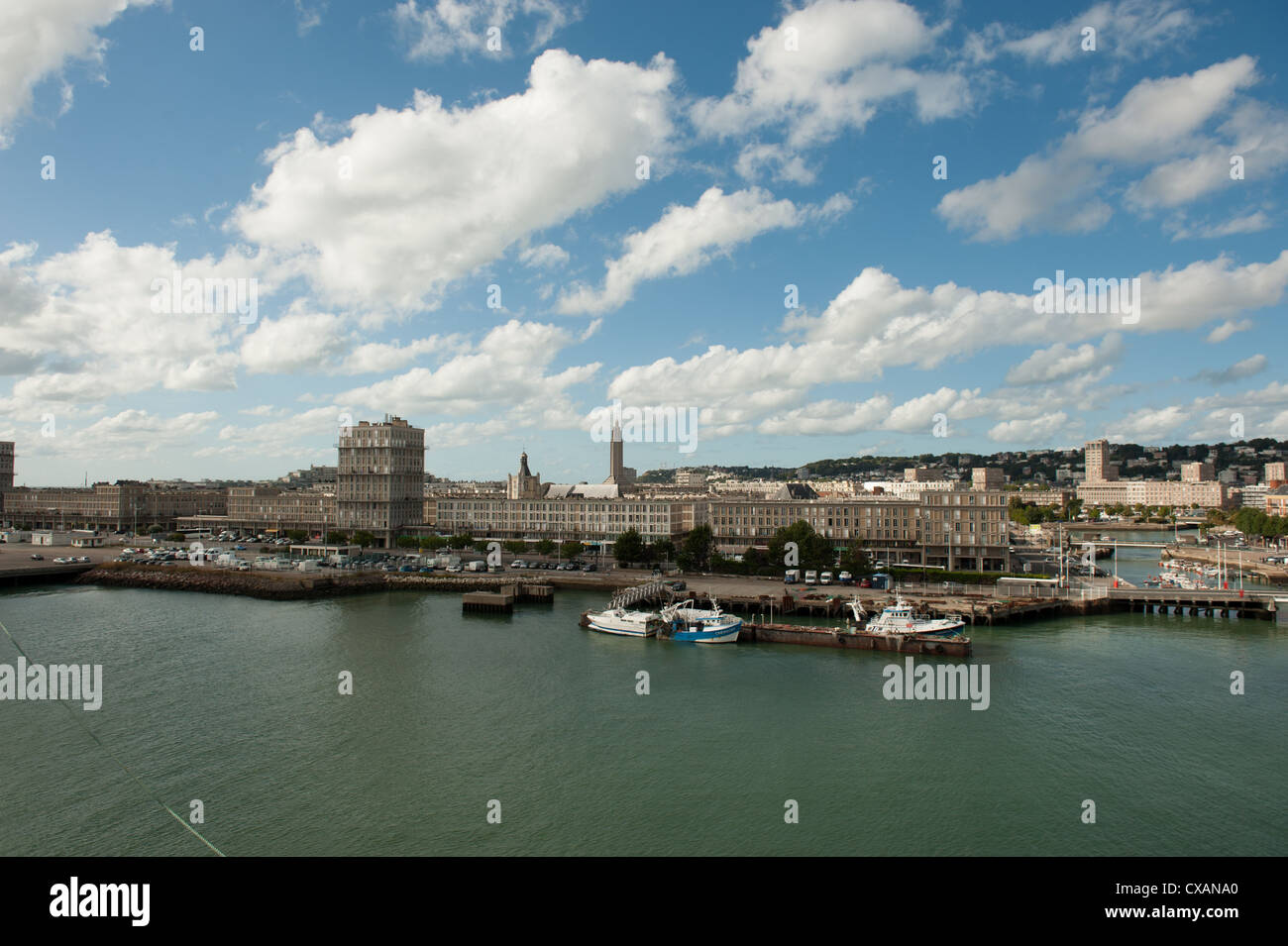 View of Le Harvre north coast of France - Stock Image
