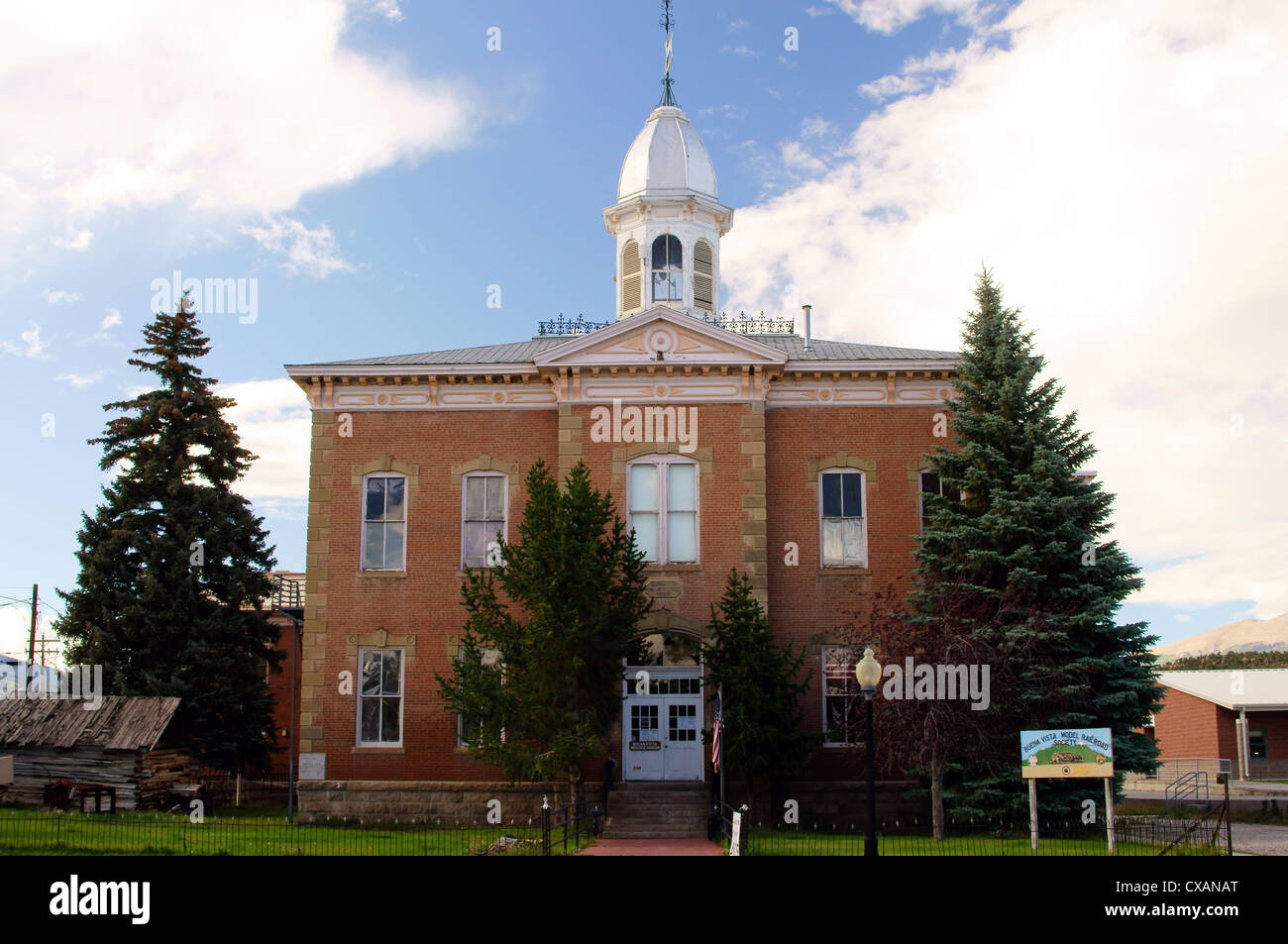 buena vista heritage museum colorado co old chaffee county courthouse lake vistans granite ernest wilbur john - Stock Image