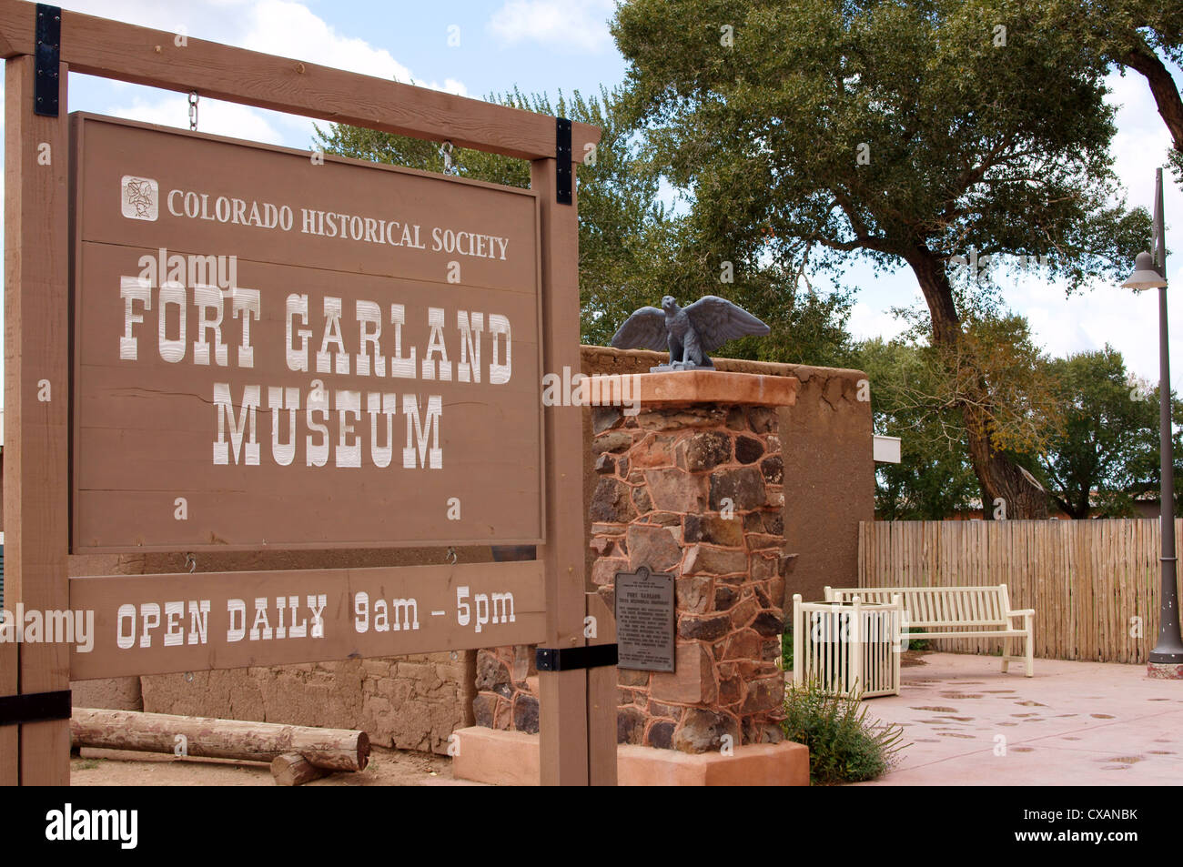fort garland museum historical society colorado co usa soldiers protect settlers san luis valley territory new - Stock Image