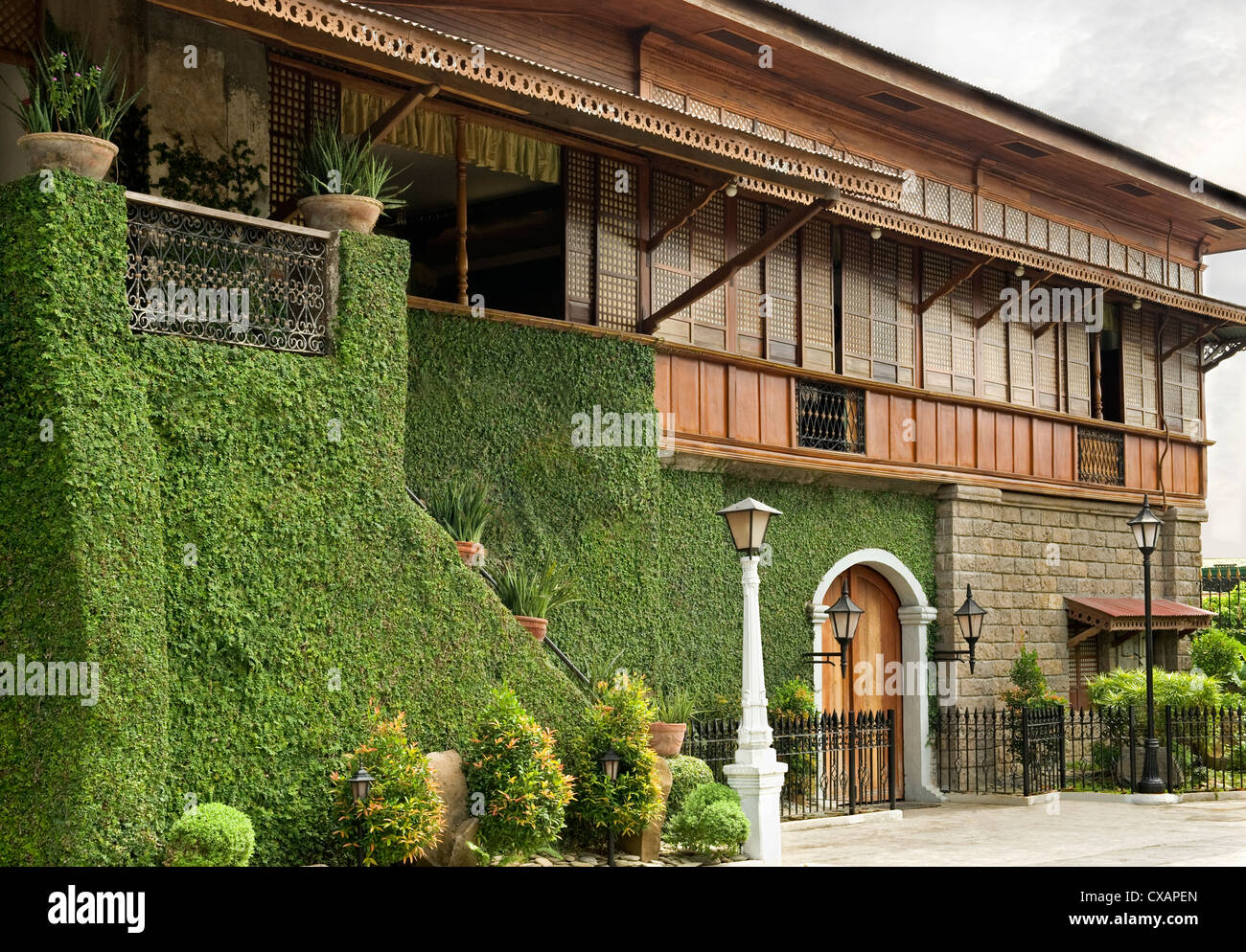The Pastor Heritage House dating from 1883, a classic Filipino style Bahay na bato in Batangas, Philippines, Southeast Stock Photo