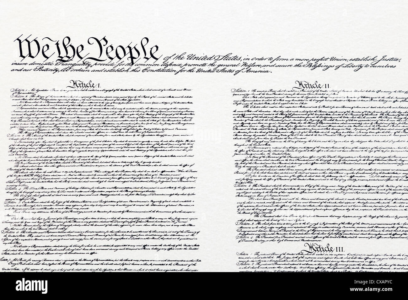 Us Constitution Stock Photos & Us Constitution Stock Images - Alamy