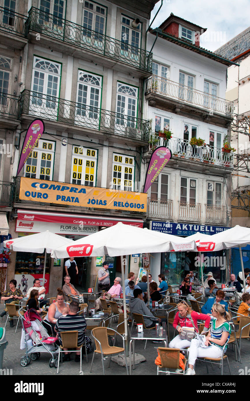 Restaurant in city centre, Porto (Oporto), Portugal, Europe Stock Photo