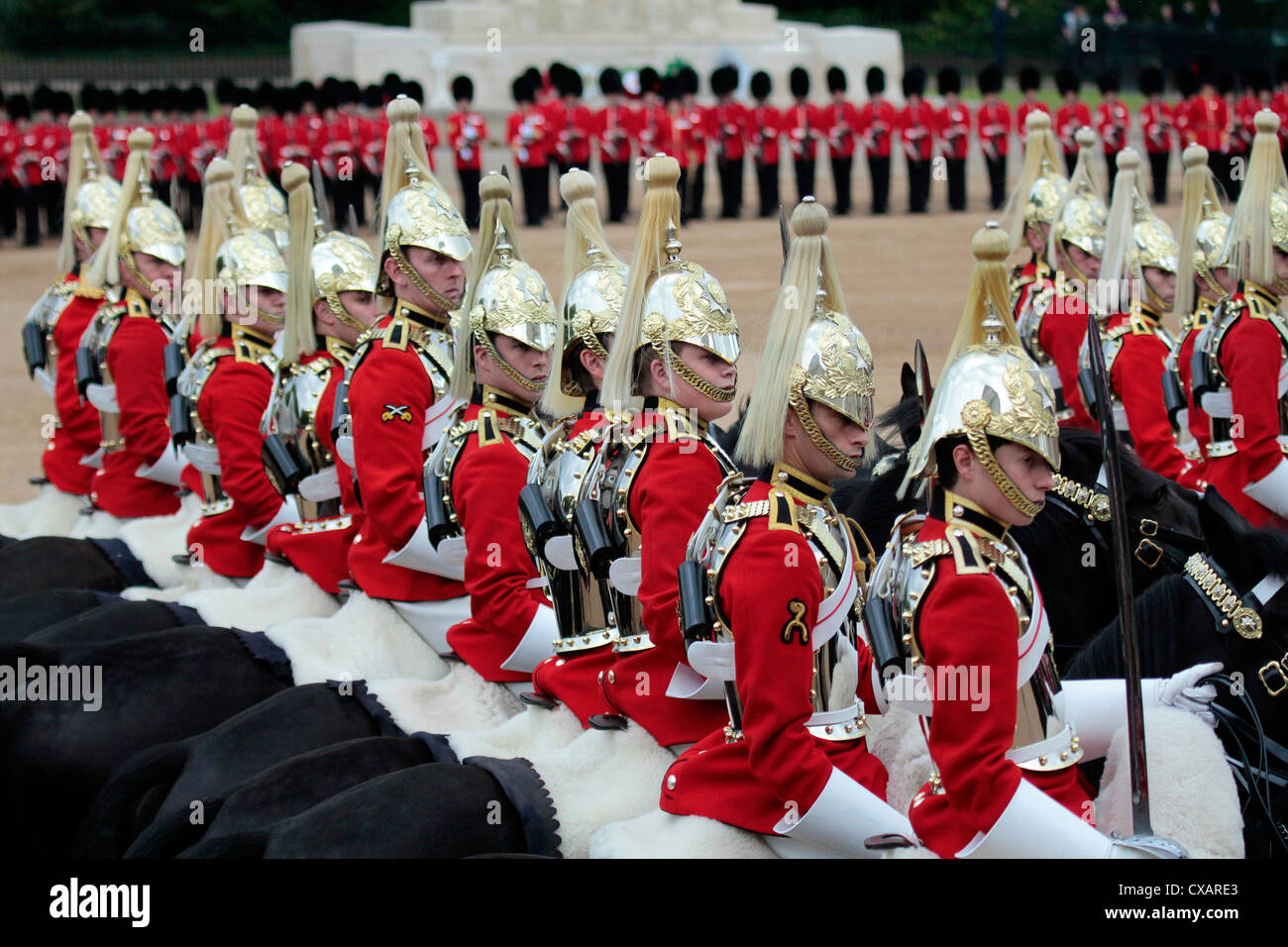 Soldiers at Trooping the Colour 2012, The Queen's Birthday Parade, Horse Guards, Whitehall, London, England, United Stock Photo