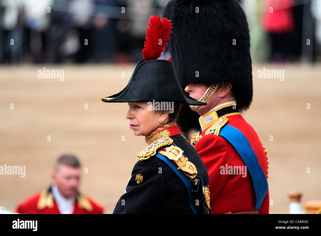 The Princess Royal, Trooping the Colour 2012, The Quuen's Birthday Parade, Whitehall, Horse Guards, London, - Stock Image