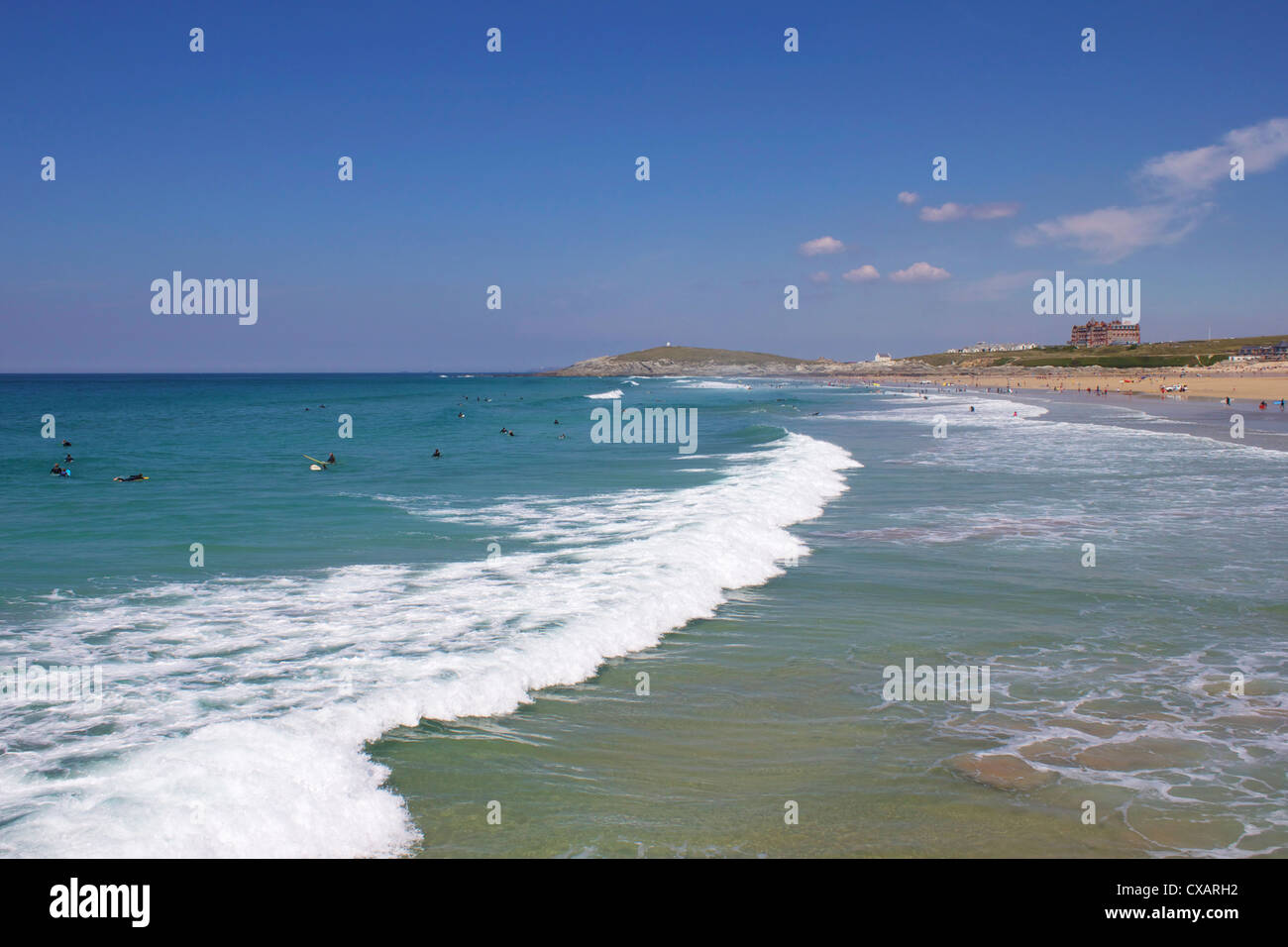 Fistral Beach, Newquay, Cornwall, England, United Kingdom, Europe - Stock Image