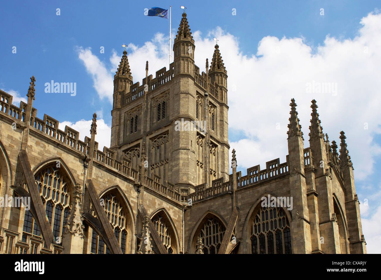 Bath Abbey, Bath, UNESCO World Heriage Site, Avon, England, United Kingdom, Europe - Stock Image