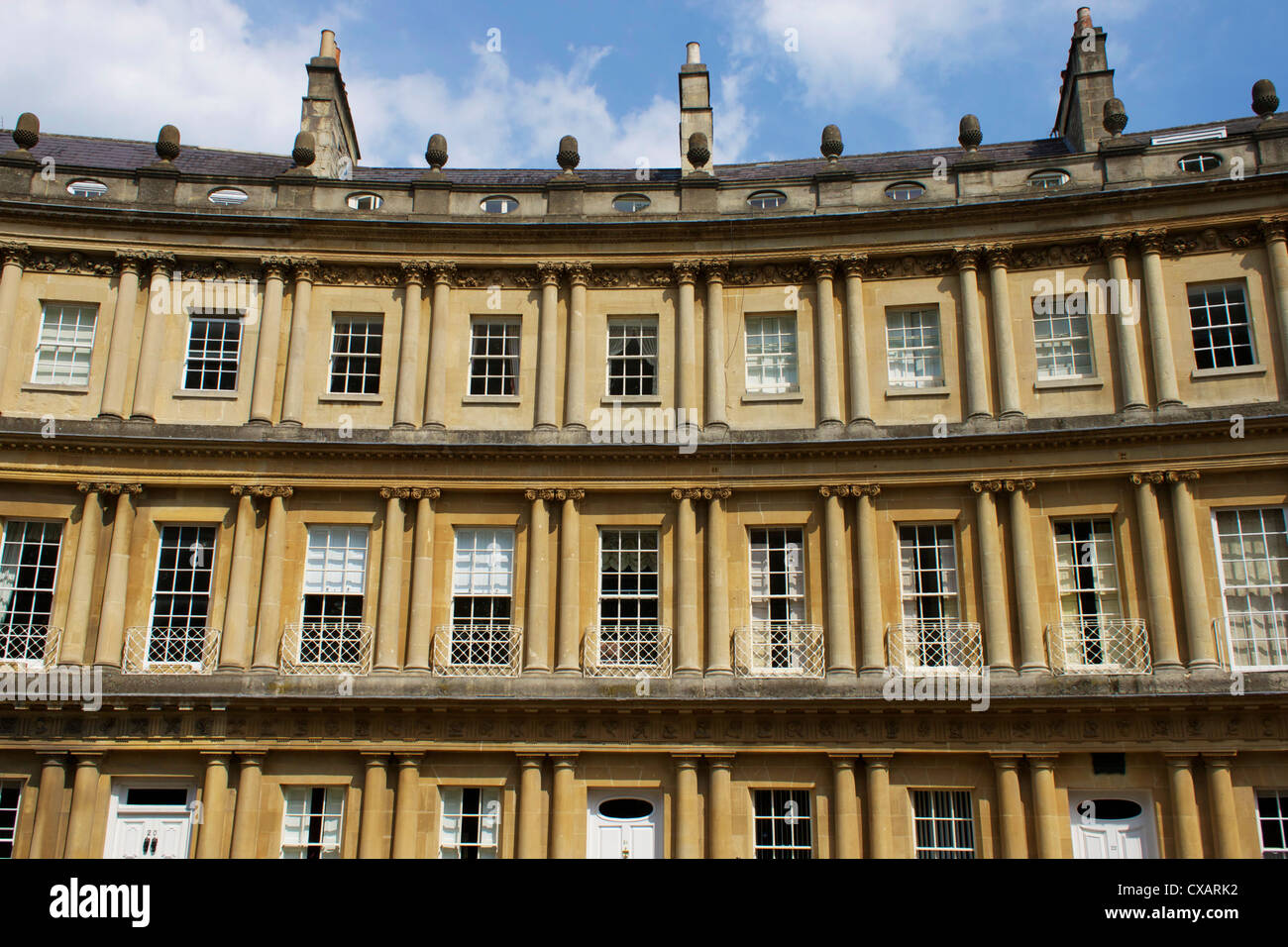 The Circus, Bath, UNESCO World Heritage Site, Avon, England, United Kingdom, Europe - Stock Image