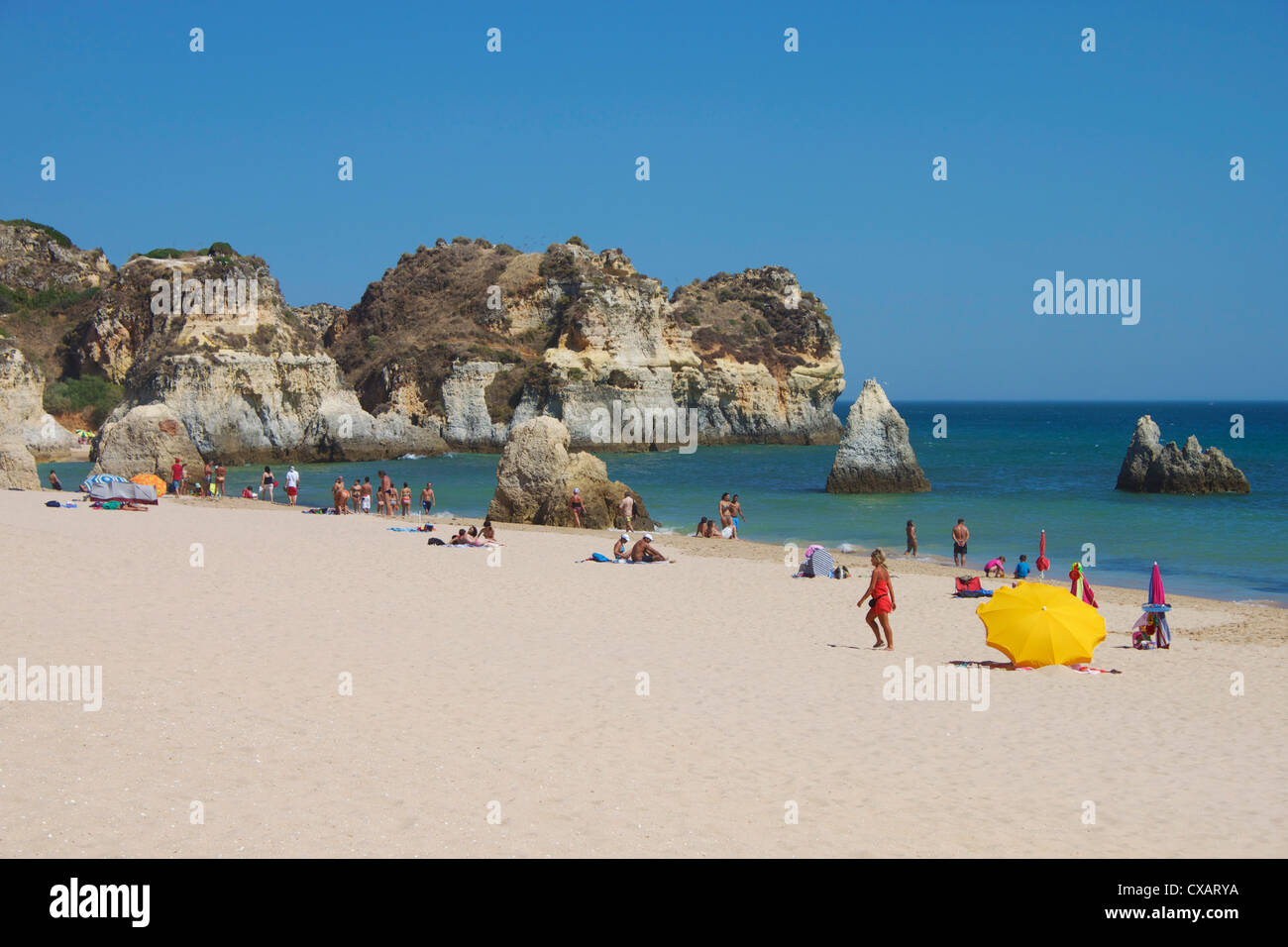 Praia Acessivel, Alvor, Algarve, Portugal, Europe - Stock Image