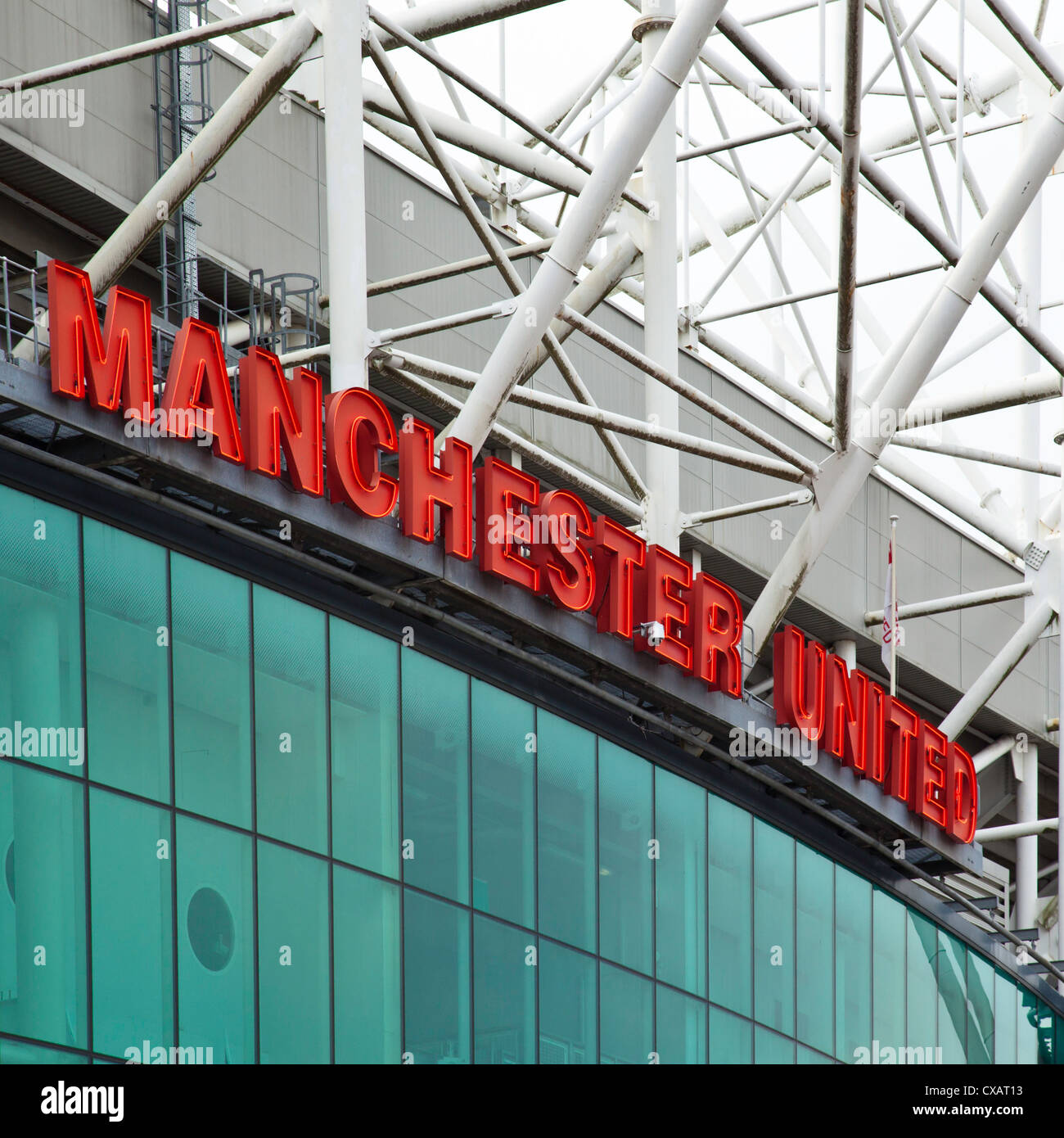 Old Trafford Football Stadium Manchester - Stock Image