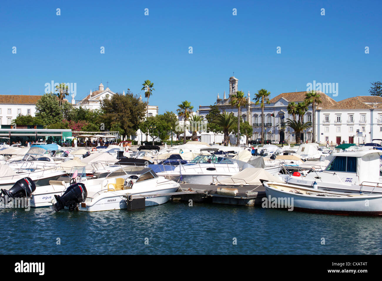 Marina and Old Town, Faro, Algarve, Portugal, Europe - Stock Image