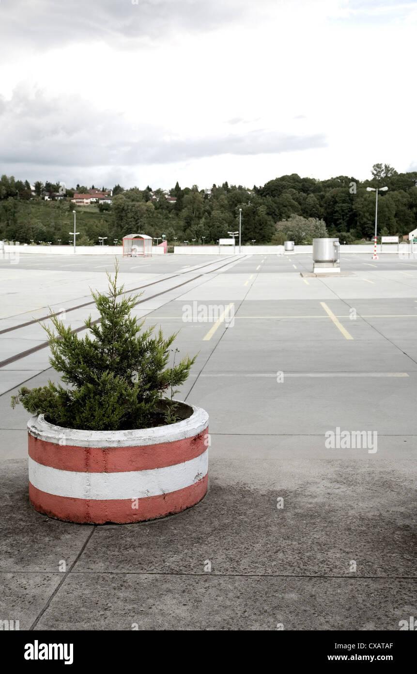 Warthausen, empty parking deck Stock Photo