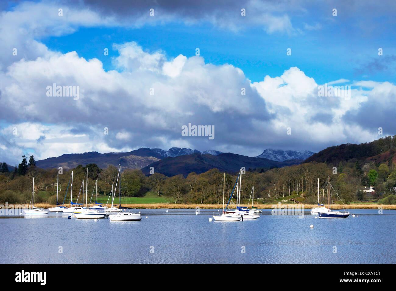 Ambleside, Lake Windermere, Lake District National Park, Cumbria, England, United Kingdom, Europe - Stock Image