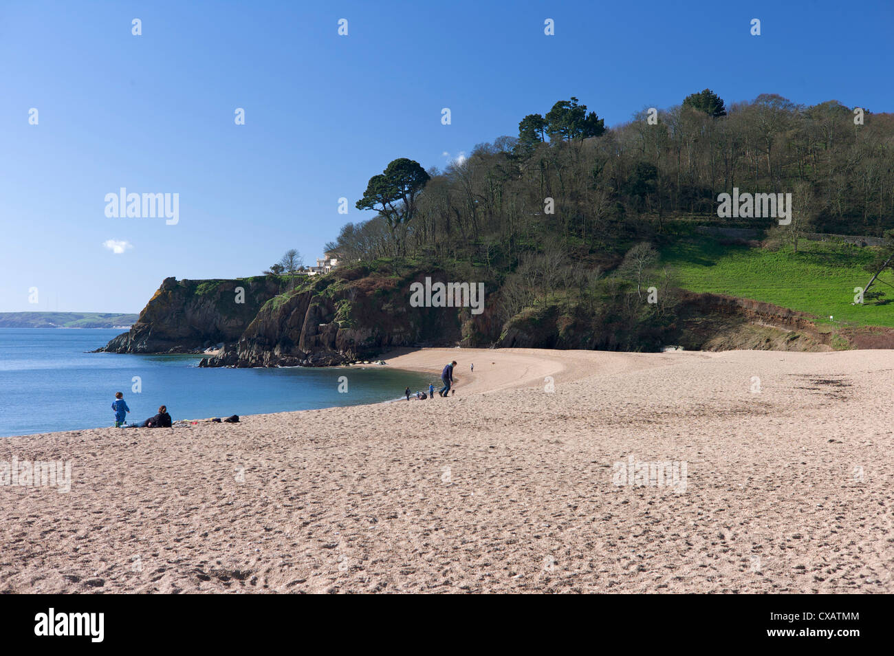 Blackpool Sands, South Devon, England, United Kingdom, Europe - Stock Image
