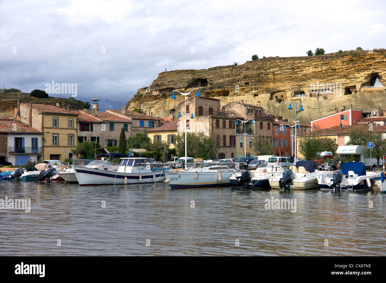 St. Chamas, Bouches-du-Rhone, Provence, France, Mediterranean, Europe - Stock Image