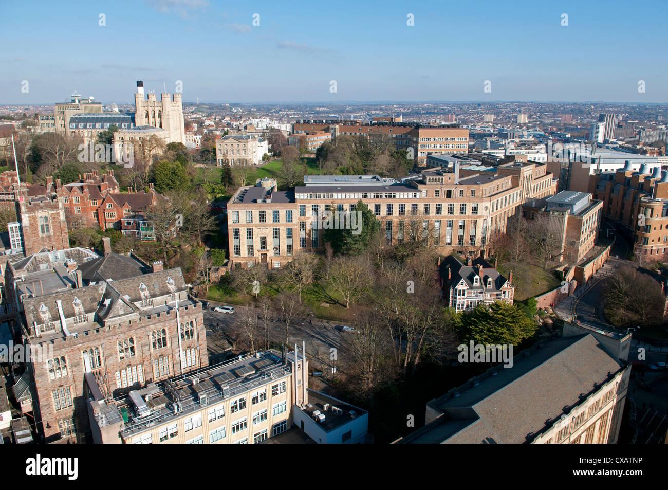University area, Bristol, England, United Kingdom, Europe - Stock Image