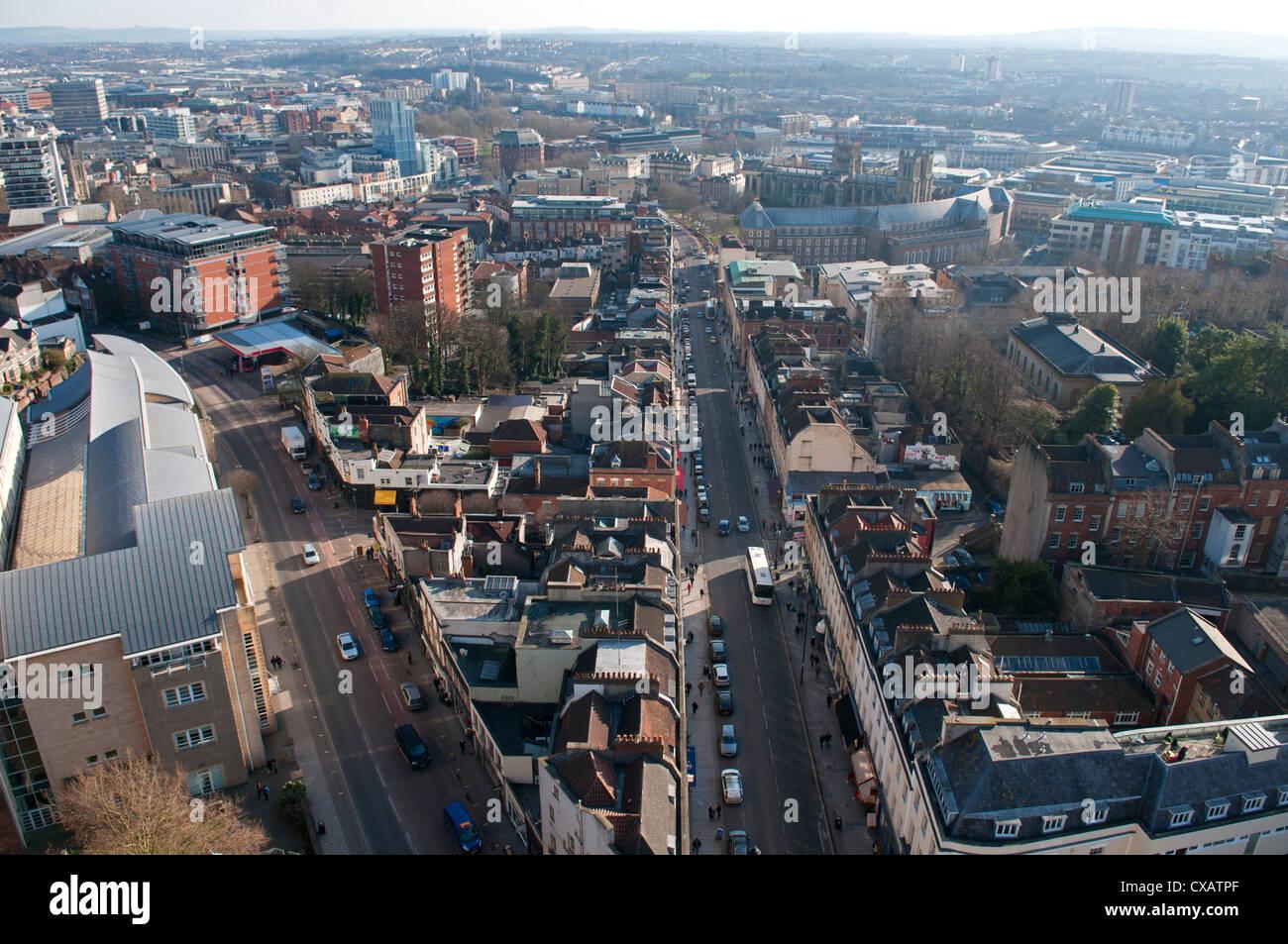 Looking down Park Street, Bristol, England, United Kingdom, Europe Stock Photo
