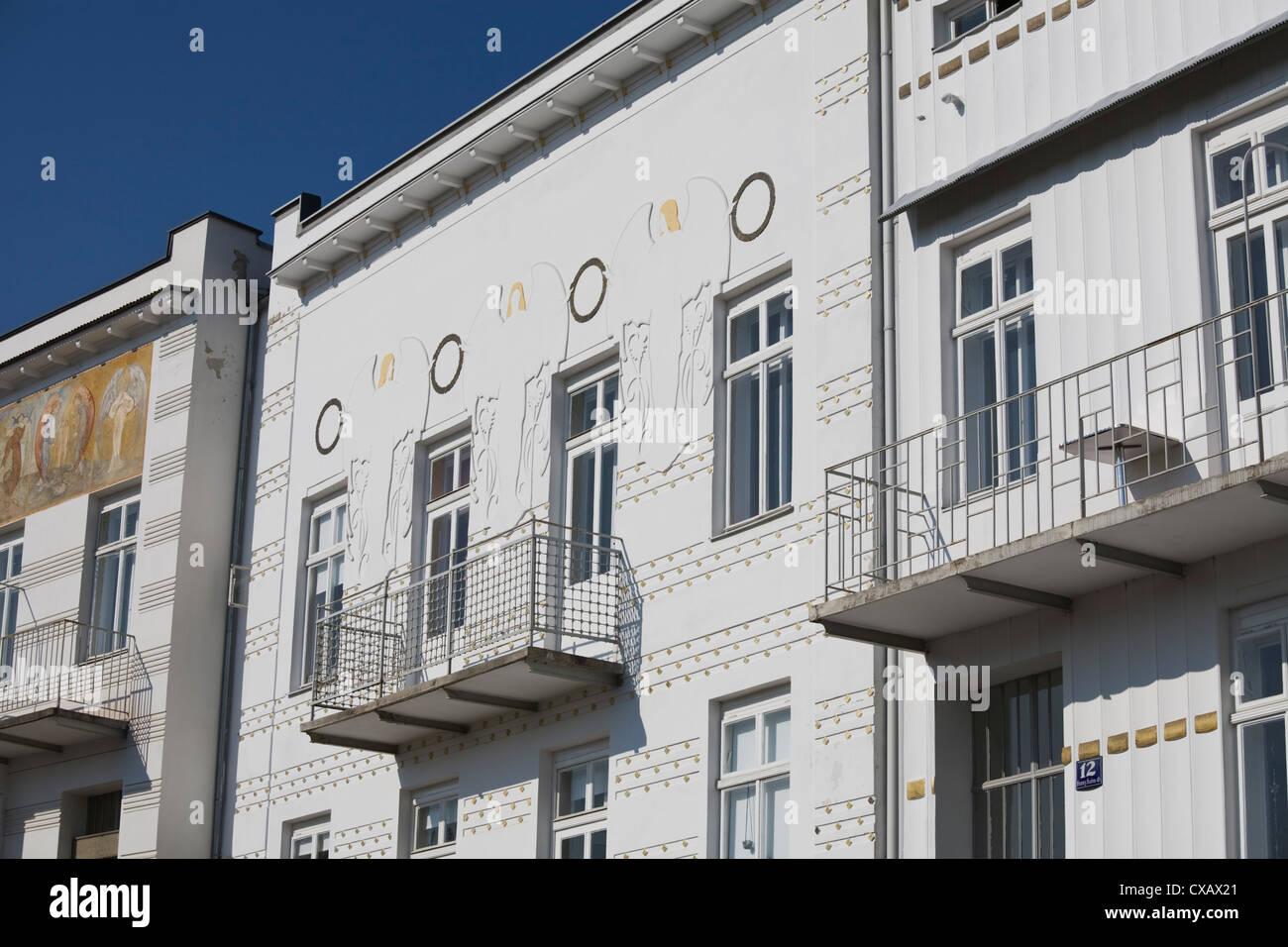 Art Deco Houses, Brunn am Gebirge, near Modling, Lower Austria, Austria, Europe - Stock Image