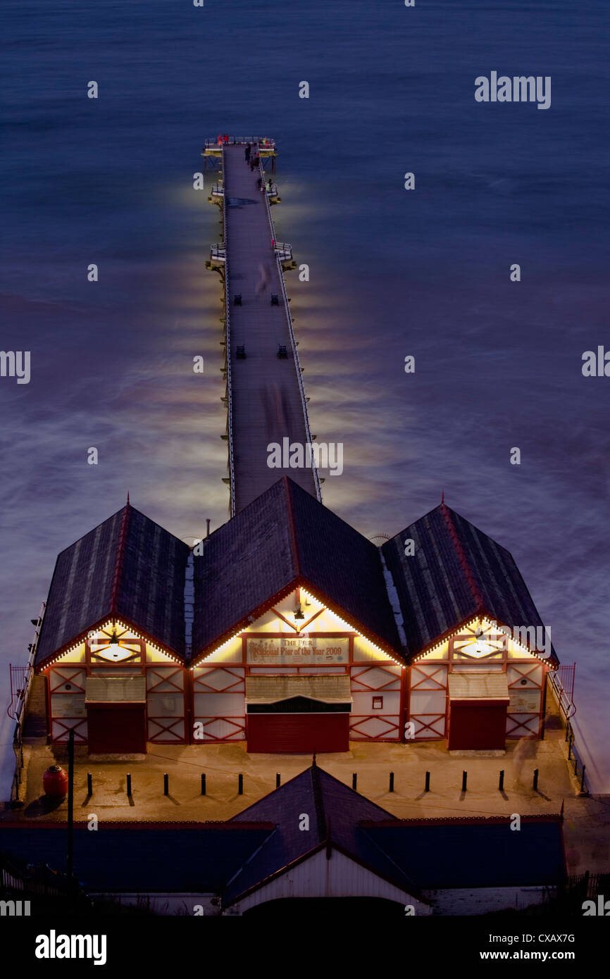 Saltburn Pier, Saltburn-by-the-Sea, Cleveland, England, United Kingdom, Europe - Stock Image