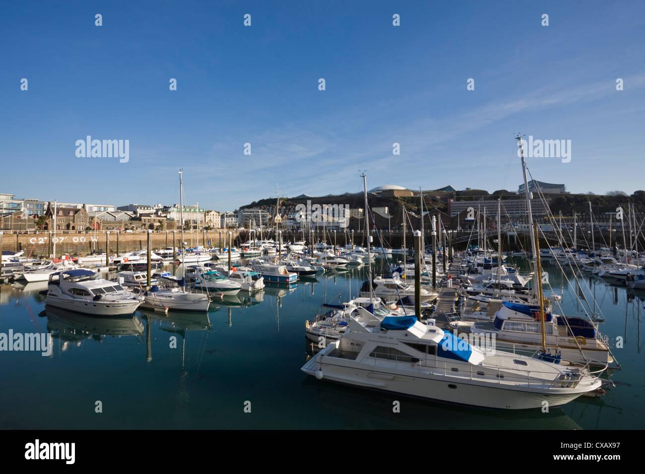Albert Harbour, St. Helier, Jersey, Channel Islands, United Kingdom, Europe - Stock Image
