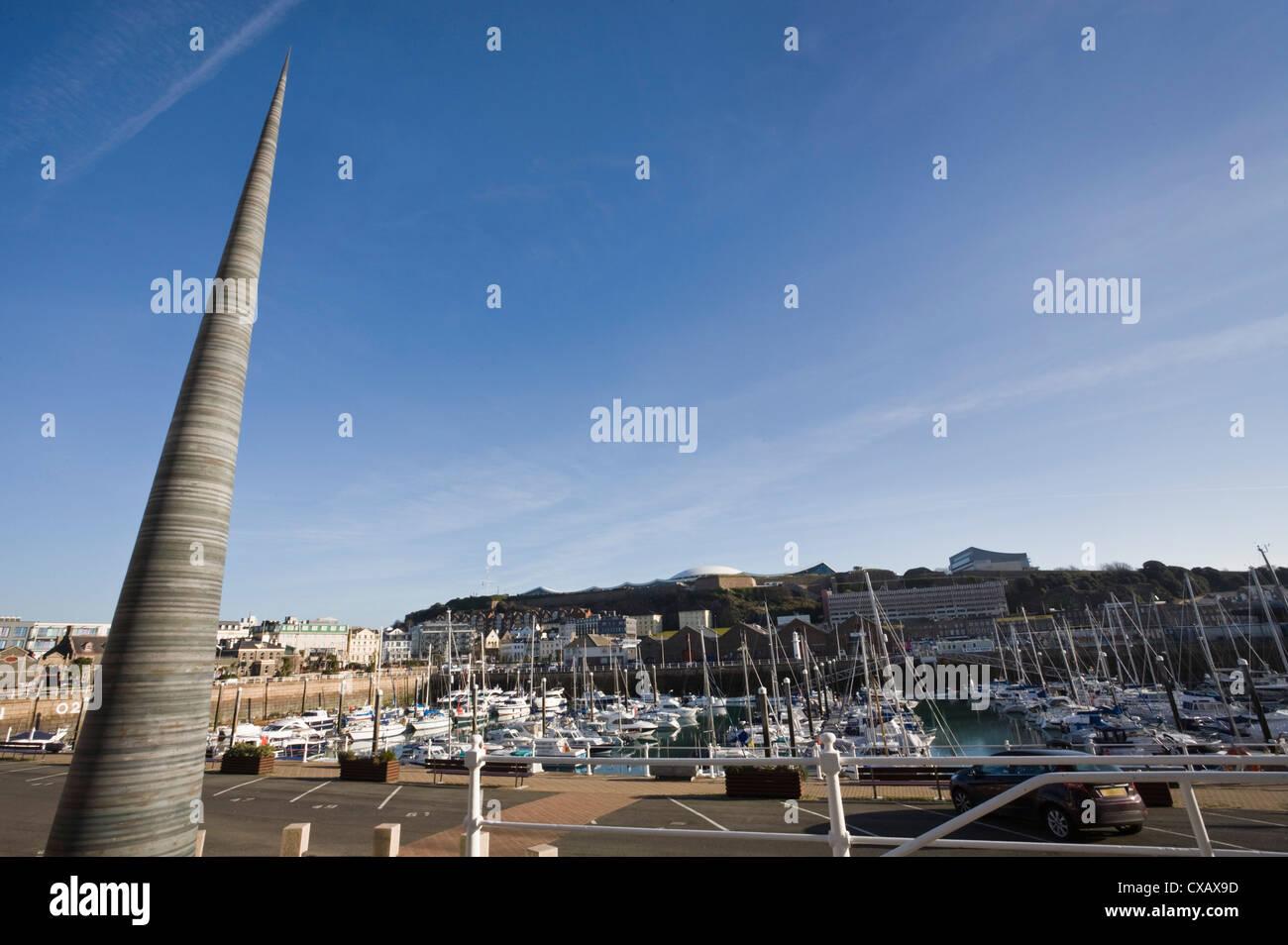 Jubilee Needle, Albert Harbour, St. Helier, Jersey, Channel Islands, United Kingdom, Europe - Stock Image