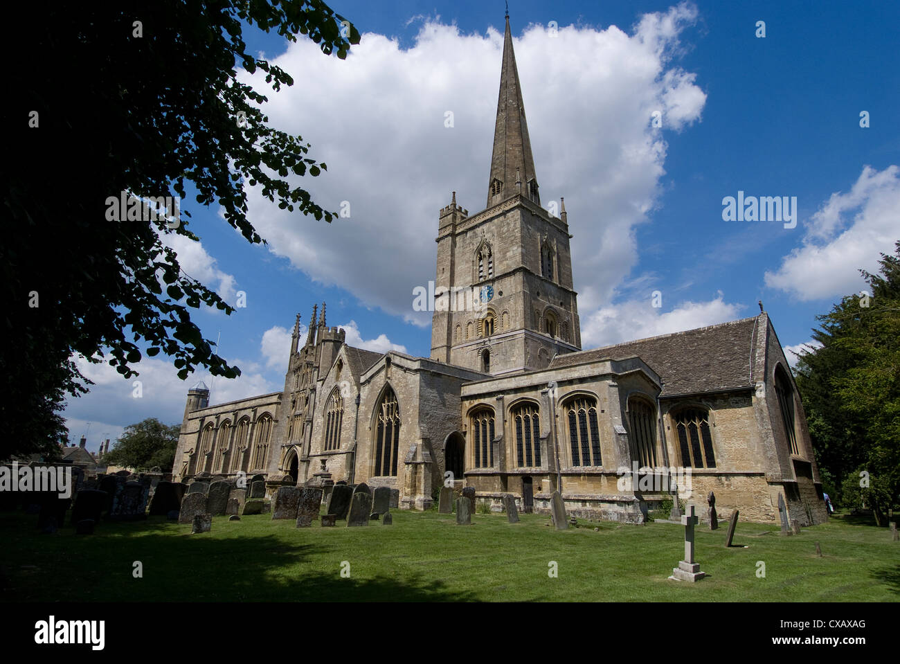 Burford Church, Burford, Oxfordshire, England, United Kingdom, Europe - Stock Image