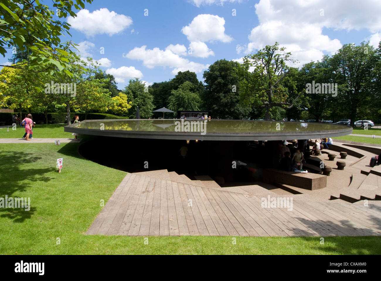 The 2012 Serpentine Gallery pavilion by Herzog, de Meuron and Ai Weiwei, Serpentine Gallery, Kensington Gardens, - Stock Image