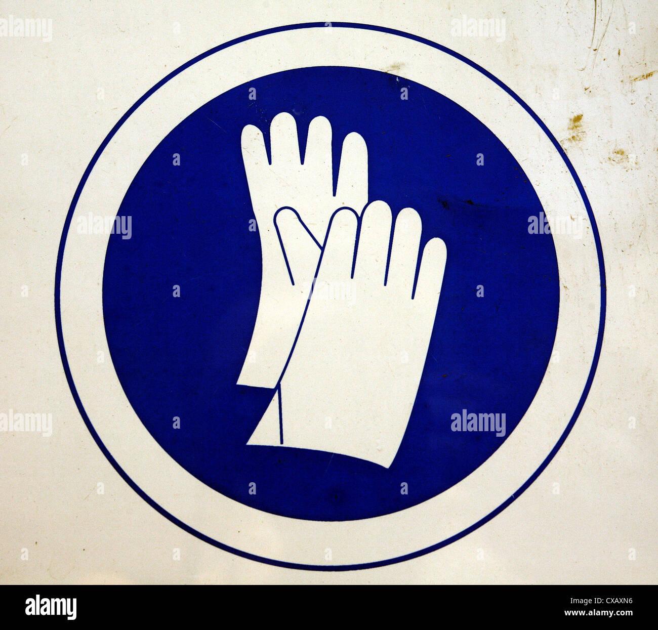 Symbol Photo Wear Gloves Gebotsschild Stock Photo 50642290 Alamy