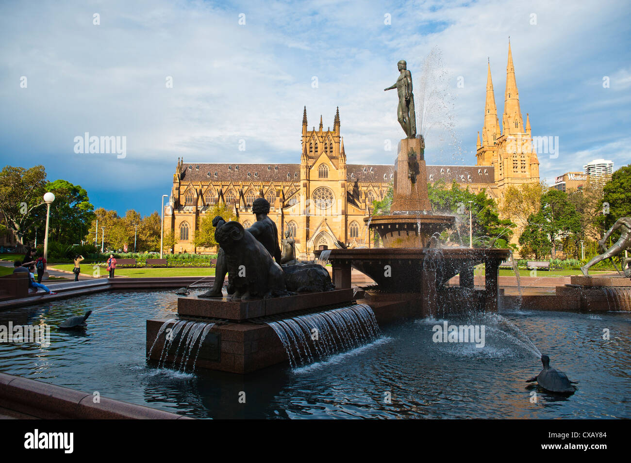 St. Marys Cathedral in Hyde Park, Sydney, New South Wales, Australia, Pacific - Stock Image