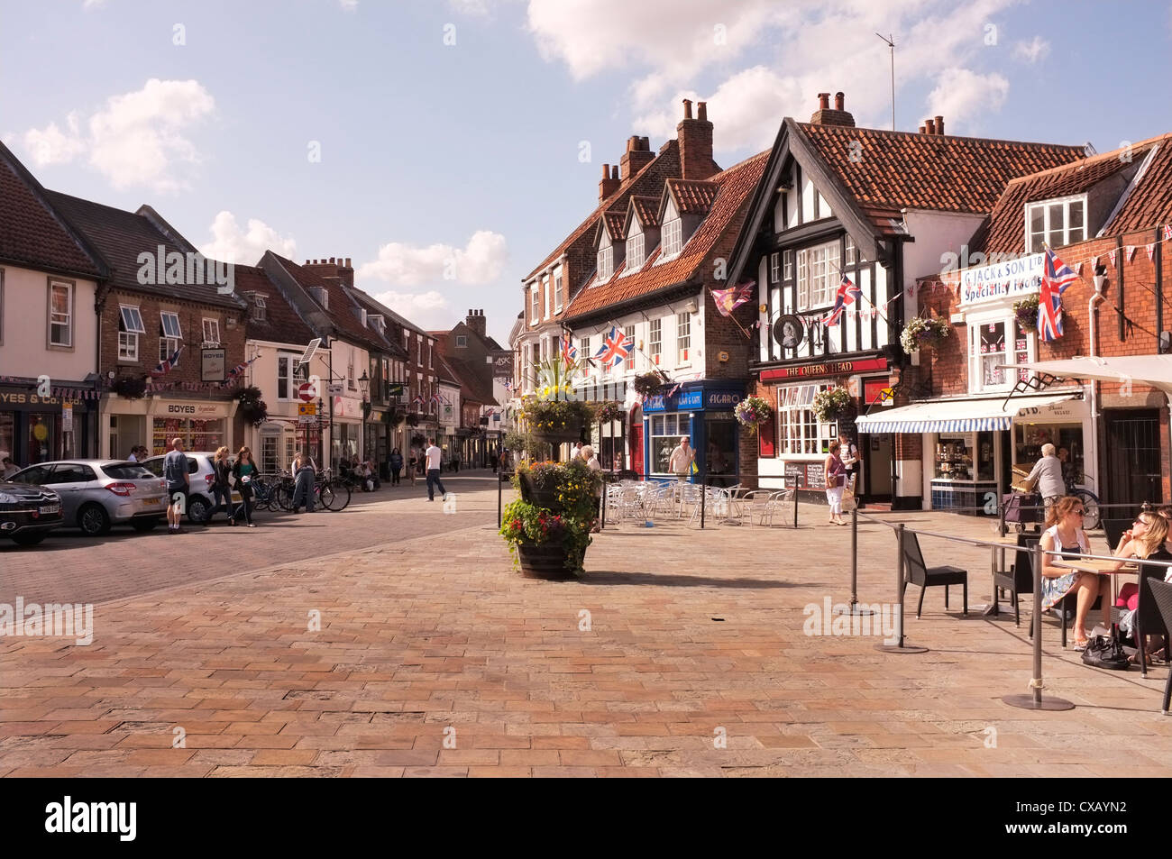 Beverley Town Centre, East Yorkshire - Stock Image