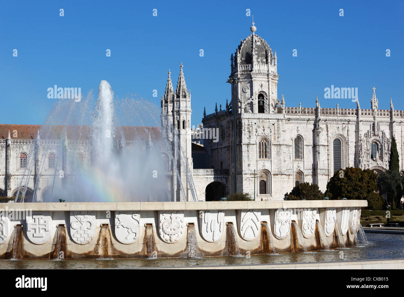 Mosteiro dos Jeronimos, UNESCO World Heritage Site, Belem, Lisbon, Portugal, Europe - Stock Image