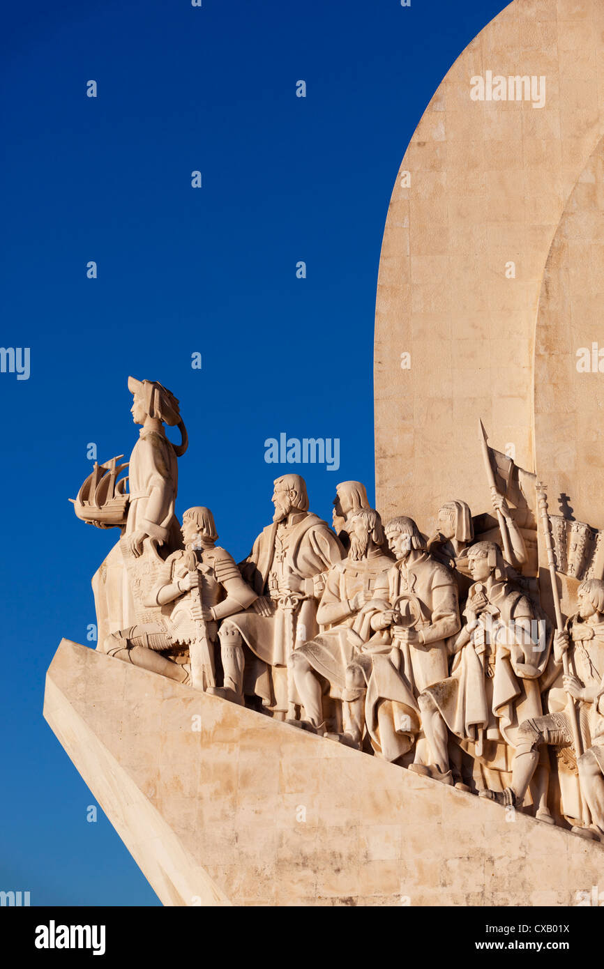 Monument to the Discoveries, Belem, Lisbon, Portugal, Europe Stock Photo