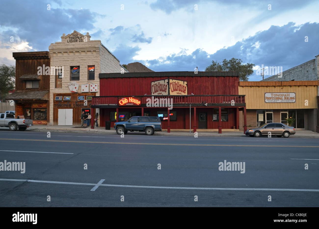 Clubhouse in Tonopah, Nevada, America - Stock Image