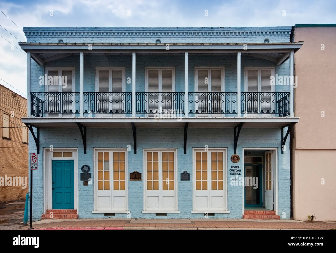 The Gem (1848), the oldest building in Brownsville, Rio Grande Valley, Texas, USA - Stock Image