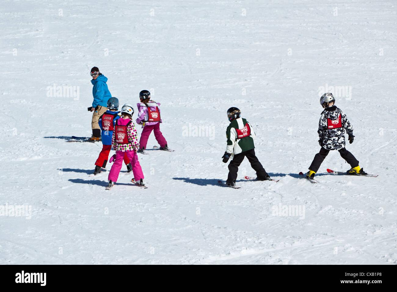 Whistler Blackcomb Ski Resort, Whistler, British Columbia, Canada, North America - Stock Image
