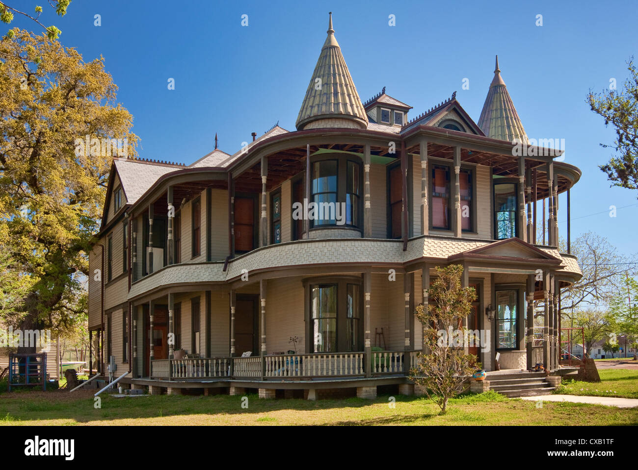 Abraham Levytansky House Steamboat Gothic Variety Of Victorian Style 1898 Historic District Near Center Victoria Texas