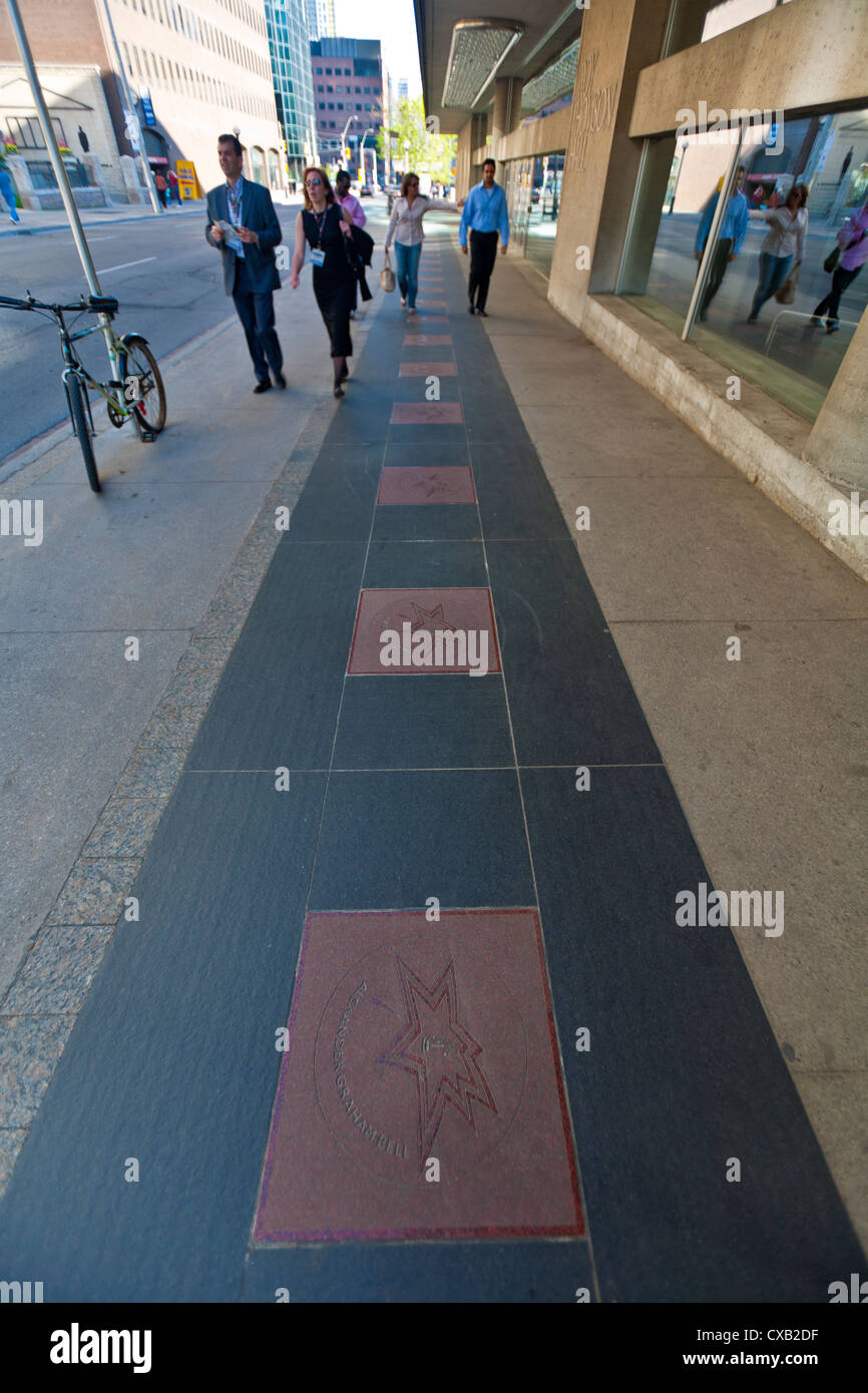 Canada's Walk of Fame, Entertainment District, Toronto, Ontario, Canada, North America - Stock Image