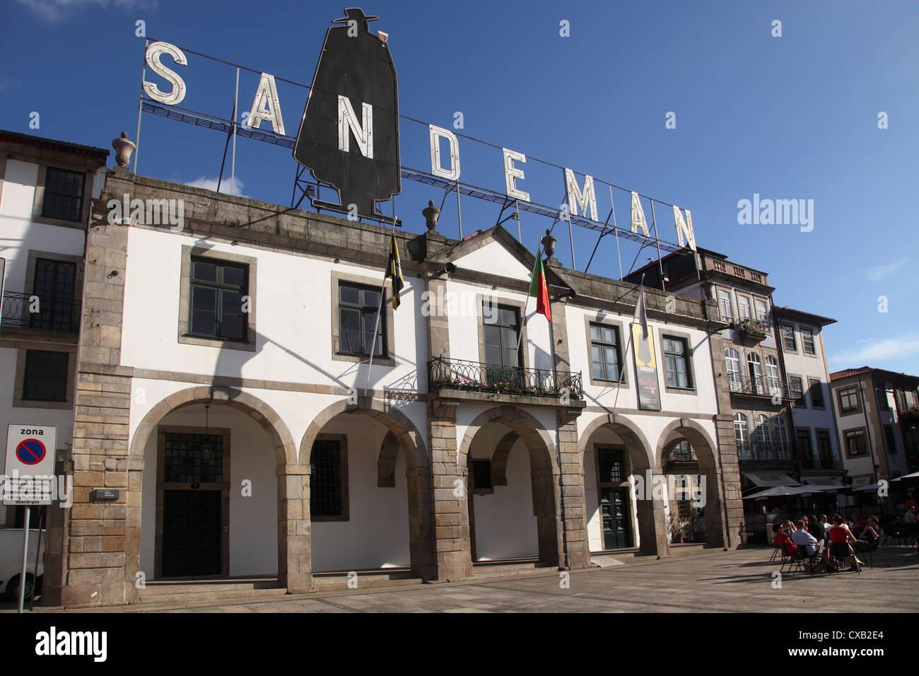 Sandeman Port Wine Lodge, Vila Nova de Gaia, Porto, Douro, Portugal, Europe - Stock Image