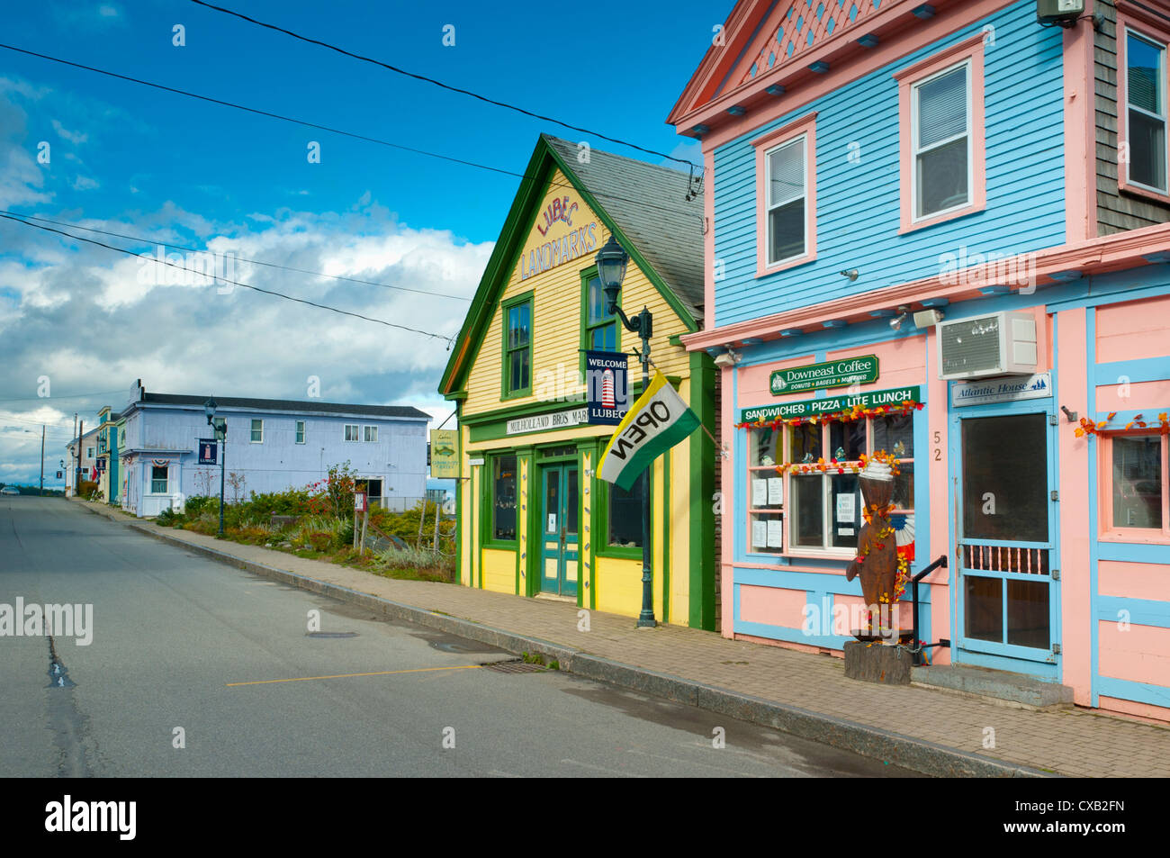 Lubec, the most easterly town in continental U.S.A., Maine, New England, United States of America, North America - Stock Image