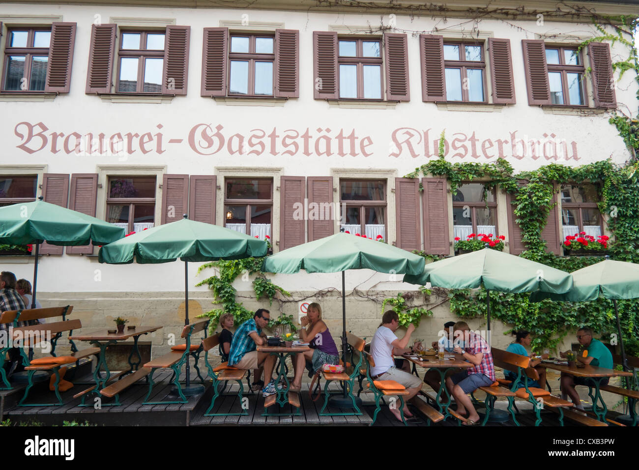 Traditional Brewery and pub in Bamberg Bavaria Germany - Stock Image