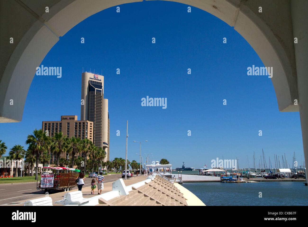 One Shoreline Plaza on the waterfront of Corpus Christi, Texas, USA. - Stock Image