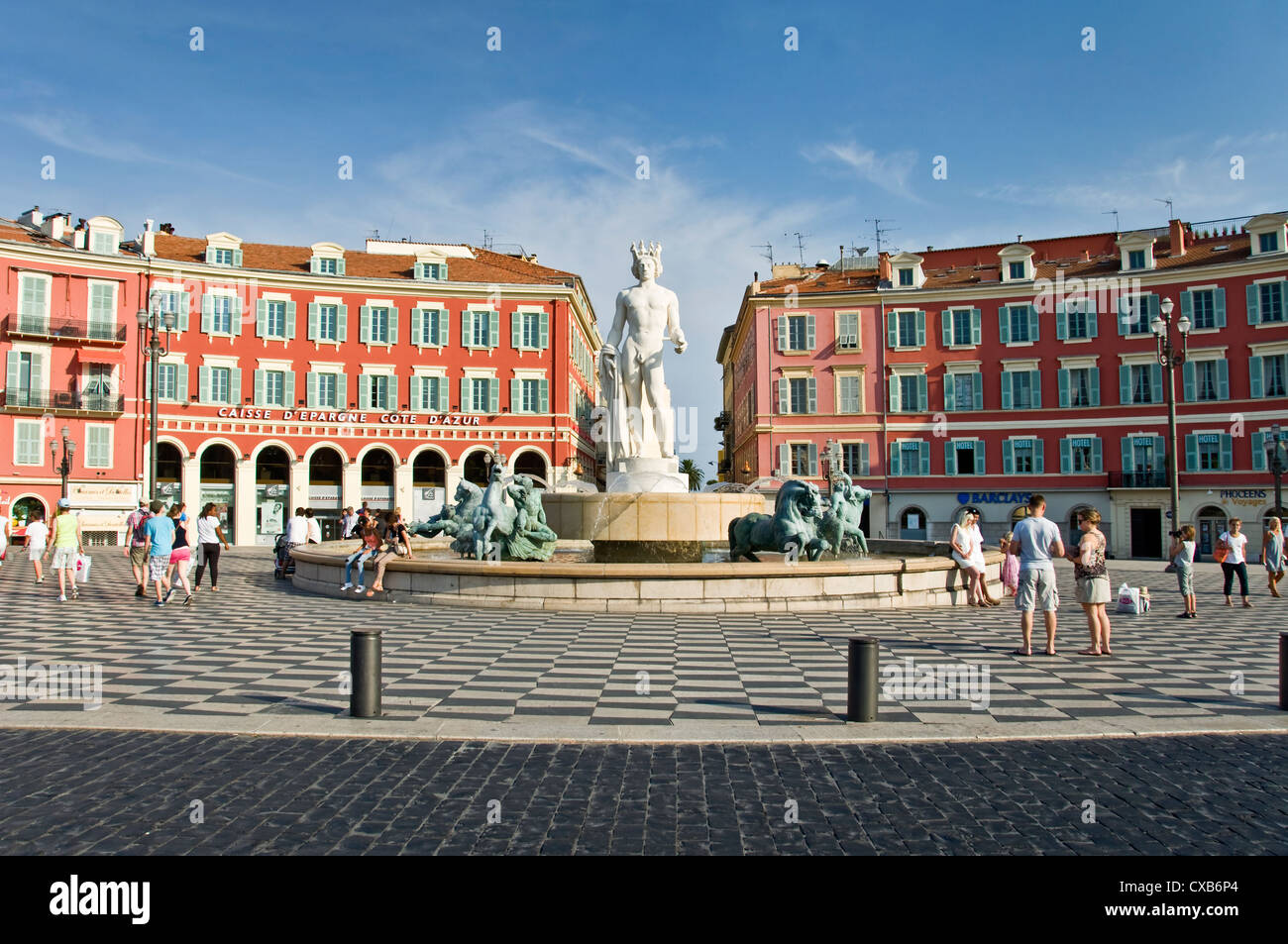Fontaine du soleil (fountain of the sun), place Masséna - Nice, France - Stock Image