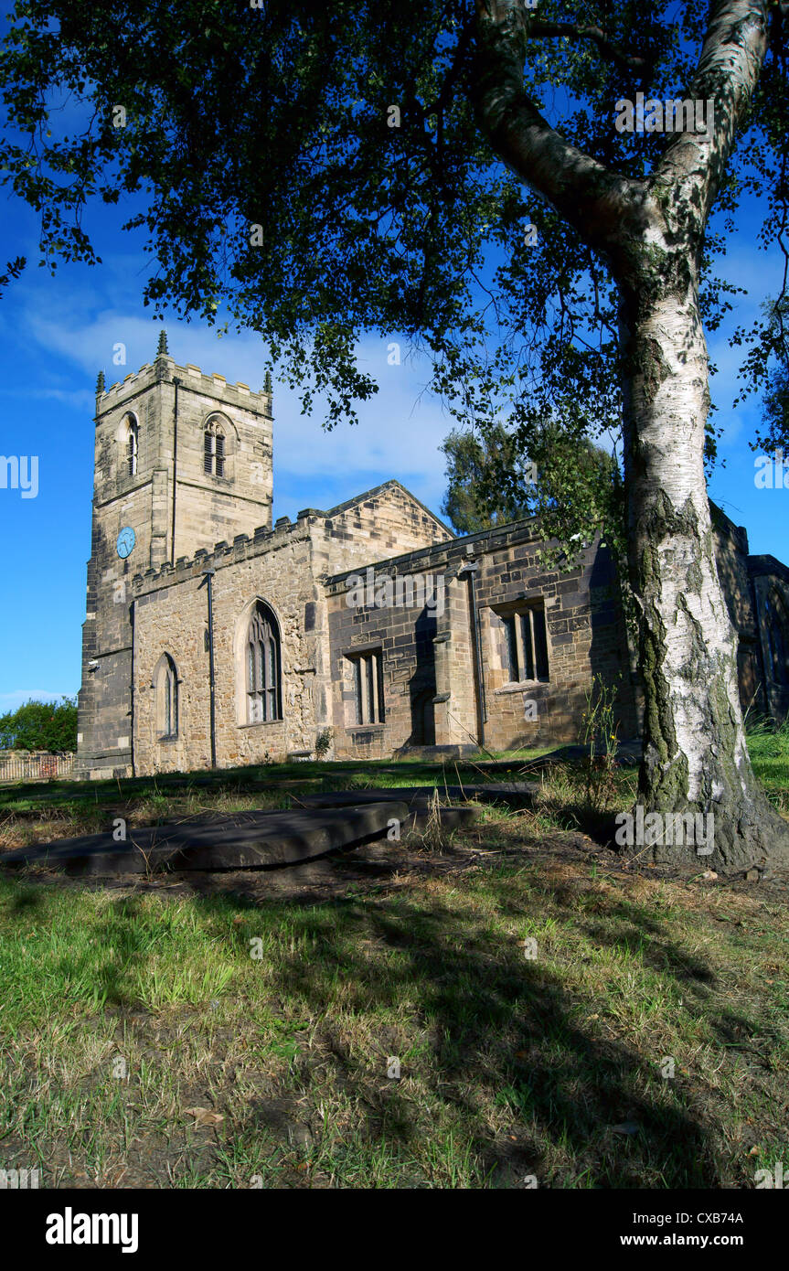 UK,South Yorkshire,Bolton On Dearne,St Andrew's Church - Stock Image