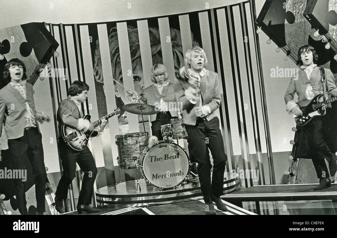 THE BEAT MERCHANTS UK pop group on 'Gadzooks' TV programme in 1965. Photo Tony Gale - Stock Image