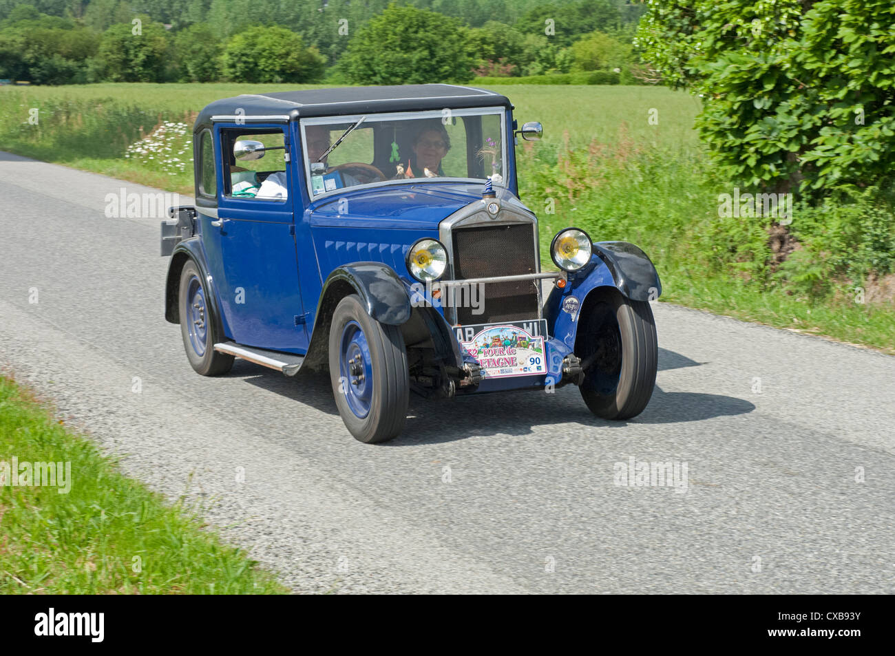 Mathis TY Coupe of 1933 in the Tour de Bretagne, France, 2012 - Stock Image