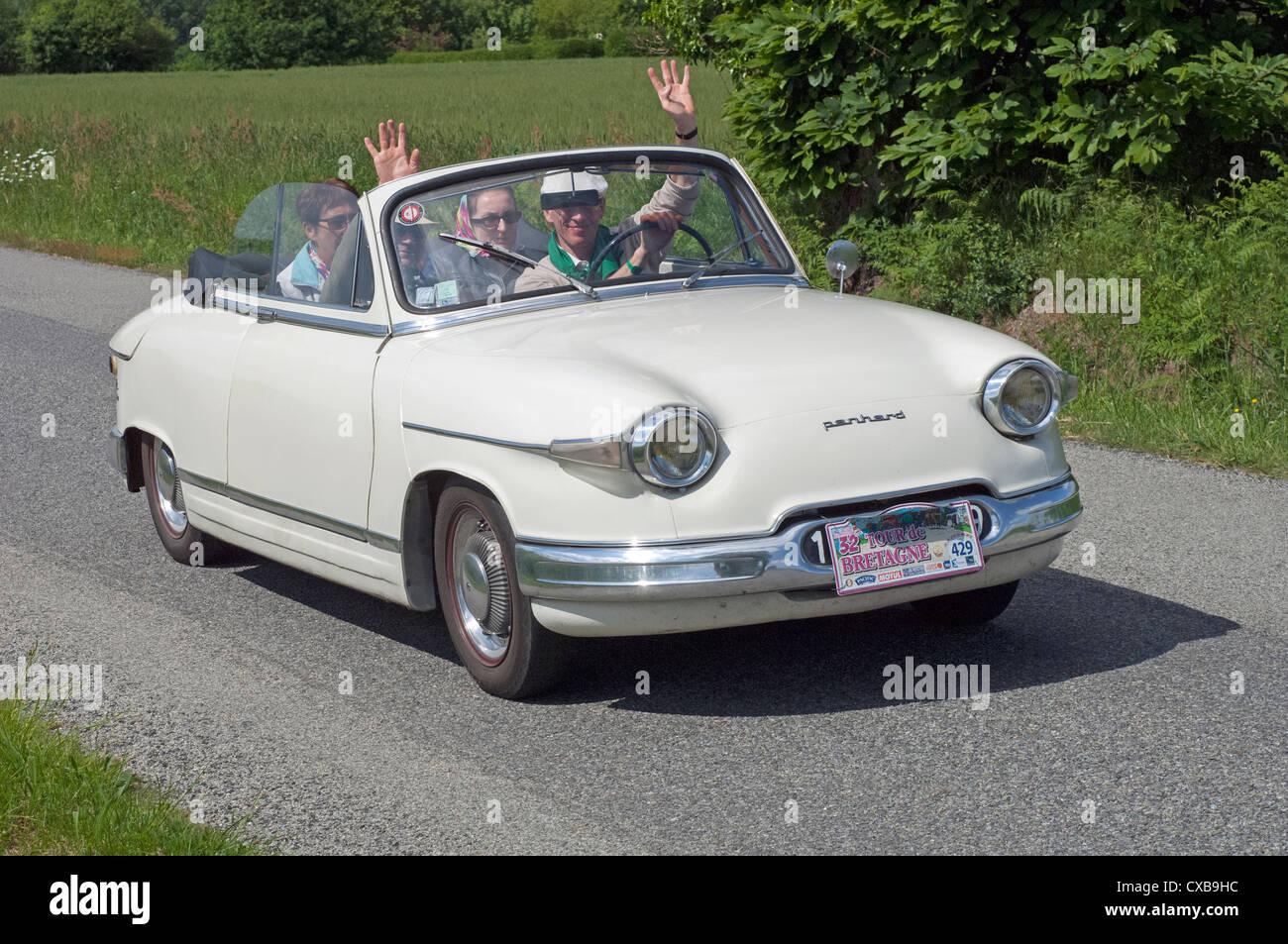 Panhard PL 17 Cabriolet of 1963 in the Tour de Bretagne, France, 2012 - Stock Image