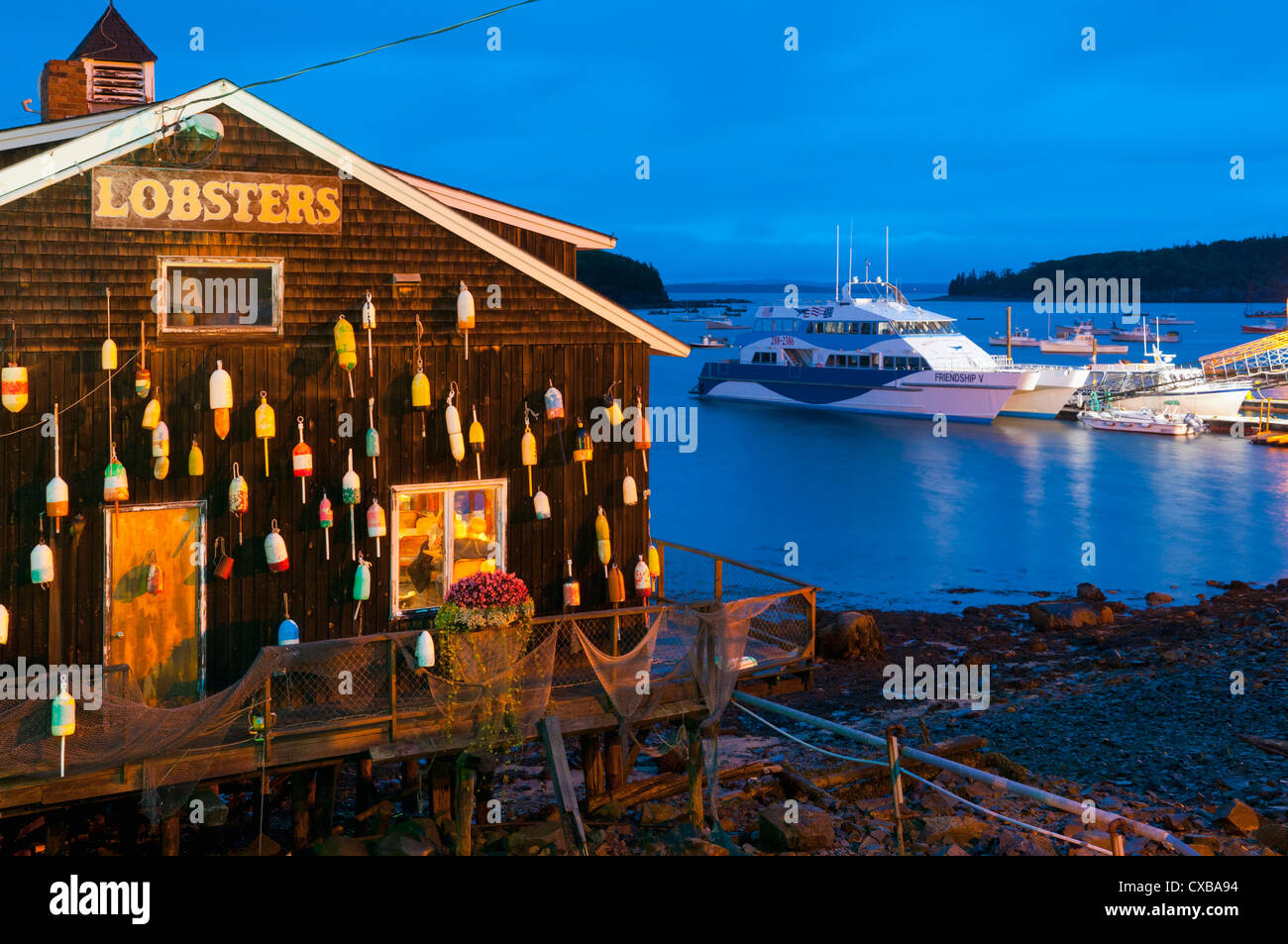 Lobster Restaurant Bar Harbor Mount Desert Island Maine