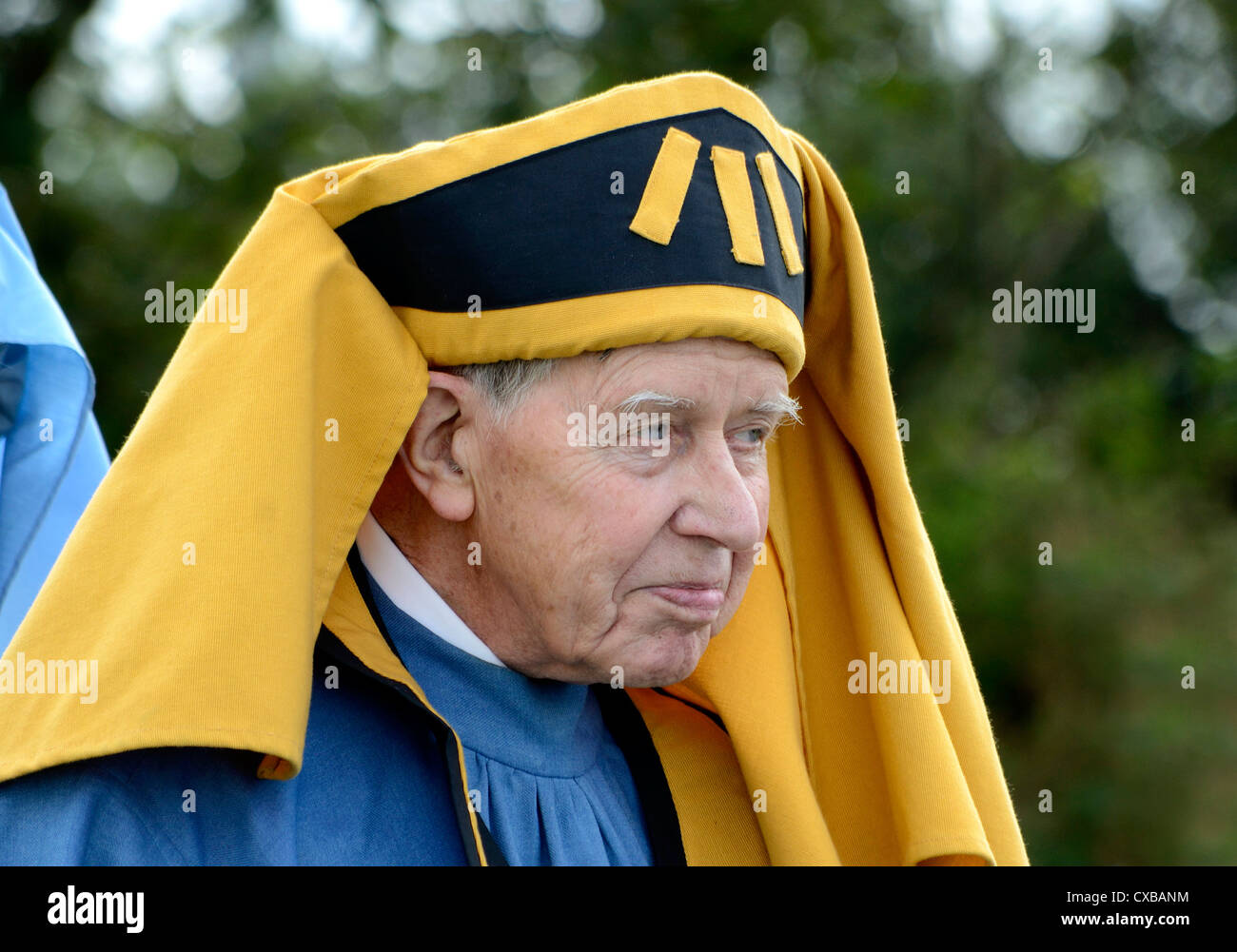 A ' cornish bard ' at the annual gorsedh ceremony in camelford cornwall, uk - Stock Image