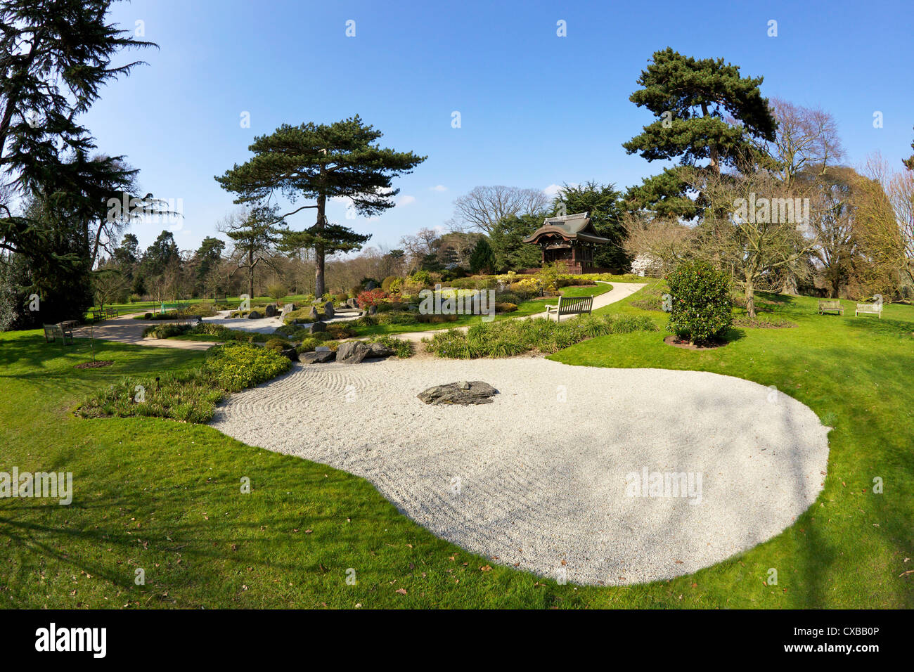 Japanese Gateway Chokushi-Mon, Gateway of Imperial Messenger, Royal Botanic Gardens, Kew, UNESCO World Heritage - Stock Image